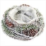 Miska natural obal 25cm sníh - velkoobchod, dovoz květin, řezané květiny Brno