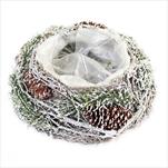 Miska natural obal 20cm sníh - velkoobchod, dovoz květin, řezané květiny Brno