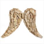 Andělská křídla dřevo 52x38cm natural - velkoobchod, dovoz květin, řezané květiny Brno