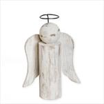 Anděl dřevo 24cm patina - velkoobchod, dovoz květin, řezané květiny Brno