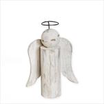 Anděl dřevo 17cm patina - velkoobchod, dovoz květin, řezané květiny Brno
