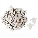 Anděl dřevo přízdoba 50ks/3cm bílá - velkoobchod, dovoz květin, řezané květiny Brno