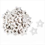 Hvězdy přízdoba dřevo 50ks/3cm bílá - velkoobchod, dovoz květin, řezané květiny Brno