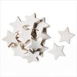 Hvězdy přízdoba dřevo 24ks/4cm bílá - velkoobchod, dovoz květin, řezané květiny Brno