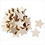 Hvězdy přízdoba dřevo 24ks/4cm natural - velkoobchod, dovoz květin, řezané květiny Brno