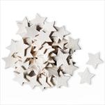 Hvězdy přízdoba dřevo 70ks/3cm bílá - velkoobchod, dovoz květin, řezané květiny Brno