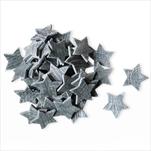 Hvězdy přízdoba dřevo 70ks/3cm šedá - velkoobchod, dovoz květin, řezané květiny Brno
