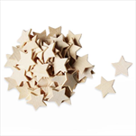 Hvězdy přízdoba dřevo 70ks/3cm natural - velkoobchod, dovoz květin, řezané květiny Brno
