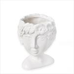 Hlava obal  keramika 11,7cm bílá - velkoobchod, dovoz květin, řezané květiny Brno