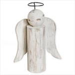 Anděl dřevo 48cm patina - velkoobchod, dovoz květin, řezané květiny Brno