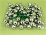 Koule zápich sklo 72ks/2cm stříbrná - velkoobchod, dovoz květin, řezané květiny Brno