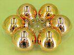 Koule vánoční sklo 30ks/5,7cm zlatá - velkoobchod, dovoz květin, řezané květiny Brno