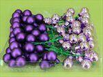 Koule zápich sklo 72ks/2cm fialová - velkoobchod, dovoz květin, řezané květiny Brno