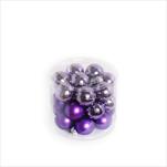 Koule vánoční sklo 24ks/2,5cm fialová - velkoobchod, dovoz květin, řezané květiny Brno