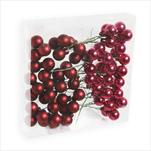 Koule zápich sklo 72ks/2cm bordó - velkoobchod, dovoz květin, řezané květiny Brno