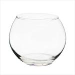 Svícen koule sklo pr.9,9V8cm čirá - velkoobchod, dovoz květin, řezané květiny Brno