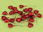 Srdíčka zápich plast červená - velkoobchod, dovoz květin, řezané květiny Brno