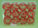 Koule drát s perličkou S/12 červená - velkoobchod, dovoz květin, řezané květiny Brno