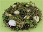 Věnec s vajíčky přírodní zelená - velkoobchod, dovoz květin, řezané květiny Brno
