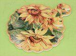 Deska slunečnice keramika žlutá - velkoobchod, dovoz květin, řezané květiny Brno