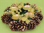 Adventní věnec šiškový krémová - velkoobchod, dovoz květin, řezané květiny Brno