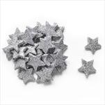 Hvězdičky přízdoba pěna pr.2cm S/24 stříbrná - velkoobchod, dovoz květin, řezané květiny Brno