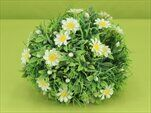 Koule s květy umělá zelená - velkoobchod, dovoz květin, řezané květiny Brno