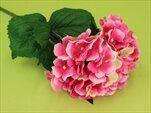 Hortenzie umělá V80cm tm.růžová - velkoobchod, dovoz květin, řezané květiny Brno