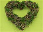 Srdce proutí pr.32x33cm zelená/hnědá - velkoobchod, dovoz květin, řezané květiny Brno