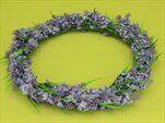 Věnec levandule umělý fialová - velkoobchod, dovoz květin, řezané květiny Brno