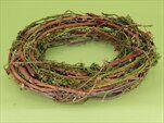 Kruh proutí pr.35cm hnědo/zelený - velkoobchod, dovoz květin, řezané květiny Brno