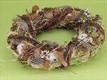 Kruh s vajíčky proutí pr.34cm hnědý - velkoobchod, dovoz květin, řezané květiny Brno