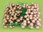 Vánoční baňky zápich sklo 1,5cm/72ks růžová - velkoobchod, dovoz květin, řezané květiny Brno