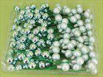 Vánoční baňky zápich sklo 1,5cm/72ks mint - velkoobchod, dovoz květin, řezané květiny Brno