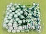 Vánoční baňky zápich sklo 2cm/72ks mint - velkoobchod, dovoz květin, řezané květiny Brno