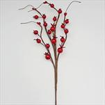 Větev bobule umělá 30cm červená - velkoobchod, dovoz květin, řezané květiny Brno