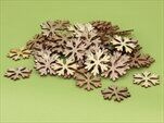 Vločka přízdoba dřevo 36ks natural - velkoobchod, dovoz květin, řezané květiny Brno