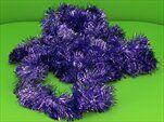 Řetěz vánoce 7cm/6m fialová - velkoobchod, dovoz květin, řezané květiny Brno