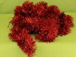 Řetěz vánoce 10cm/6m červená - velkoobchod, dovoz květin, řezané květiny Brno