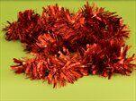 Řetěz vánoce 9cm/2m mat červená - velkoobchod, dovoz květin, řezané květiny Brno