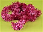 Řetěz vánoce 5cm/2m fialová - velkoobchod, dovoz květin, řezané květiny Brno