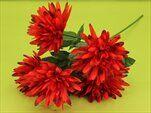 Chryzanthéma umělá 5květů pr.10/61cm vínová - velkoobchod, dovoz květin, řezané květiny Brno