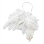 Andělská křídla závěs peří 5ks/13x11cm bílá - velkoobchod, dovoz květin, řezané květiny Brno