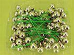 Koule zápich sklo 72ks/1,5cm stříbrná - velkoobchod, dovoz květin, řezané květiny Brno