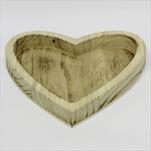 Srdce tác dřevo 26x26cm natural - velkoobchod, dovoz květin, řezané květiny Brno