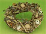 Věnec vajíčka/proutí 35cm natural - velkoobchod, dovoz květin, řezané květiny Brno