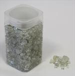 Drť sklo 5-8mm 550g stříbrná - velkoobchod, dovoz květin, řezané květiny Brno
