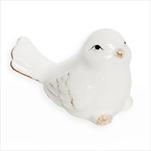 Ptáček porcelán 7cm bílá - velkoobchod, dovoz květin, řezané květiny Brno