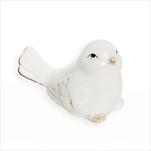 Ptáček porcelán 5,6cm bílá - velkoobchod, dovoz květin, řezané květiny Brno