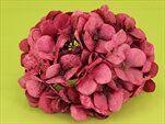Hortenzie květ textil pr.18cm fuchsia - velkoobchod, dovoz květin, řezané květiny Brno